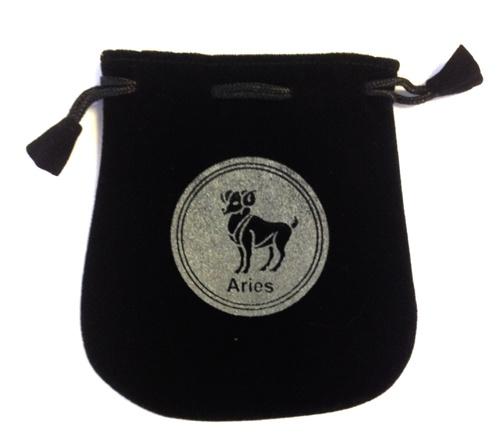 Aries Sign Velvet Bag