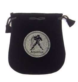 Aquarius Sign Velvet Bag