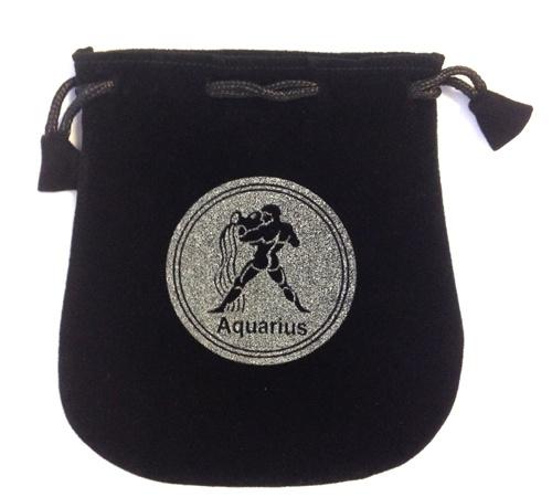 N. Imports Aquarius Sign Velvet Bag