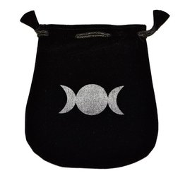 N. Imports Triple Moon Velvet Bag
