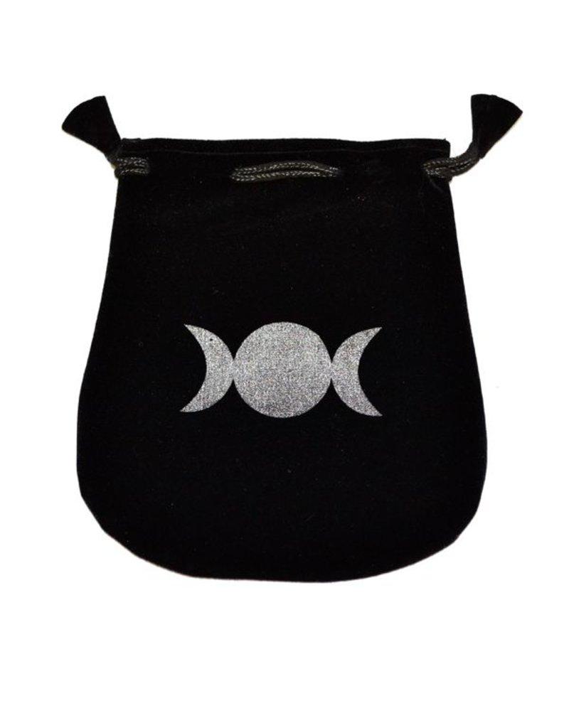 N. Imports Triple Moon Velvet Bag