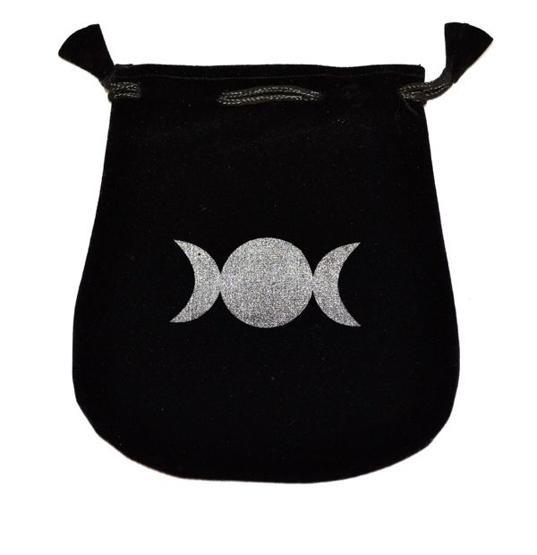 Triple Moon Velvet Bag