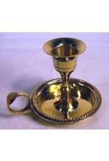 Large Brass Chamberstick Taper Candle Holder