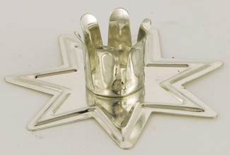 Silver Fairy Star Chime Candle Holder