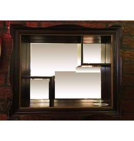 Lee Lee's Valise Antique 3 Section Hanging Wood Wall Mirror