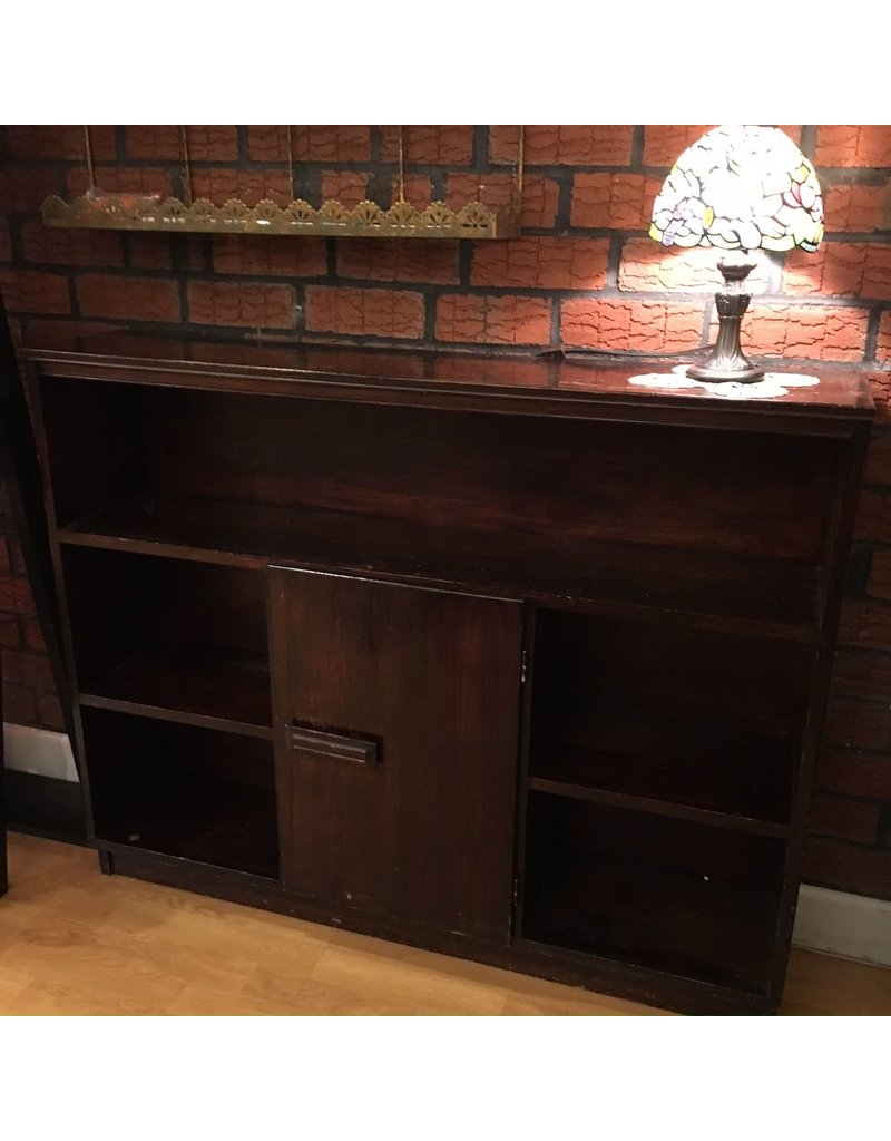 Lee Lee's Valise Wooden Bookcase 5 Shelves and a Middle Section door