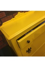 Lee Lee's Valise Yellow Chest of Drawers with details and original hardware