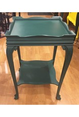 Lee Lee's Valise Decorative Square Wooden Side Table in Green