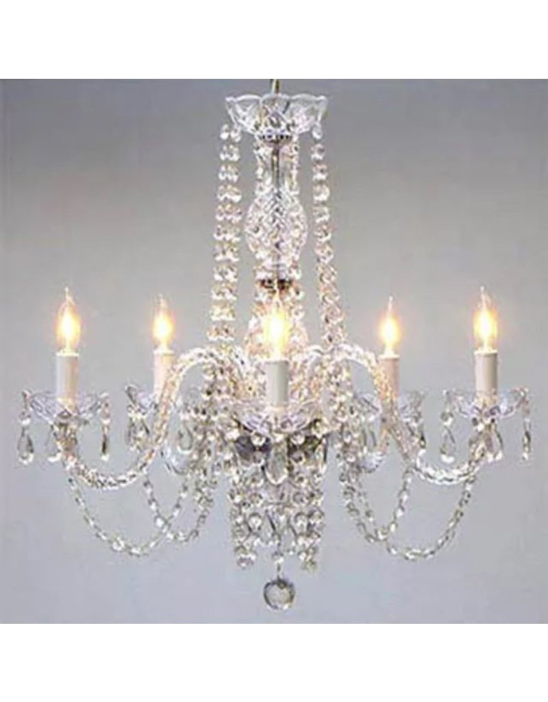Lee Lee's Valise Clear Crystal Chandelier