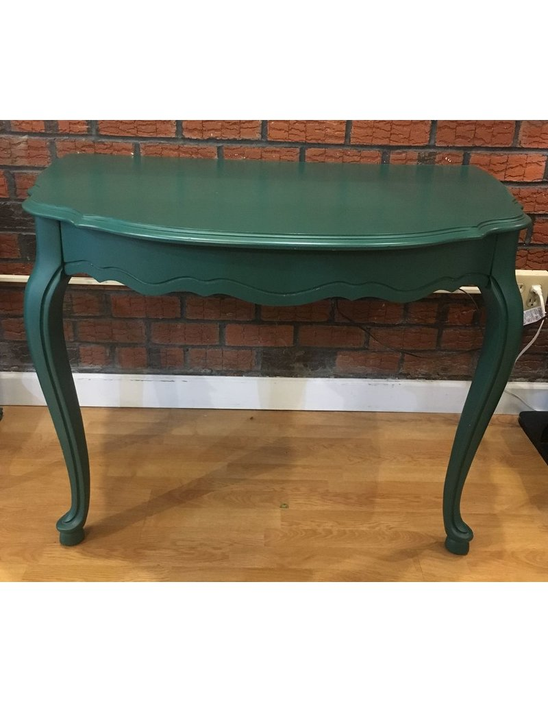 Lee Lee's Valise Decorative Wooden Half Table in Green
