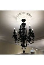Lee Lee's Valise 7 Arm Black Crystal Chandelier