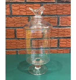 Lee Lee's Valise Glass Cannister with Bird on Lid