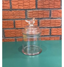 Lee Lee's Valise Glass Cannister with Bird on Lid Small