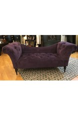 Lee Lee's Valise Tufted Chaise Lounge in Aubergine Made in USA