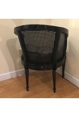 Lee Lee's Valise Antique Cane Back Chair in Black