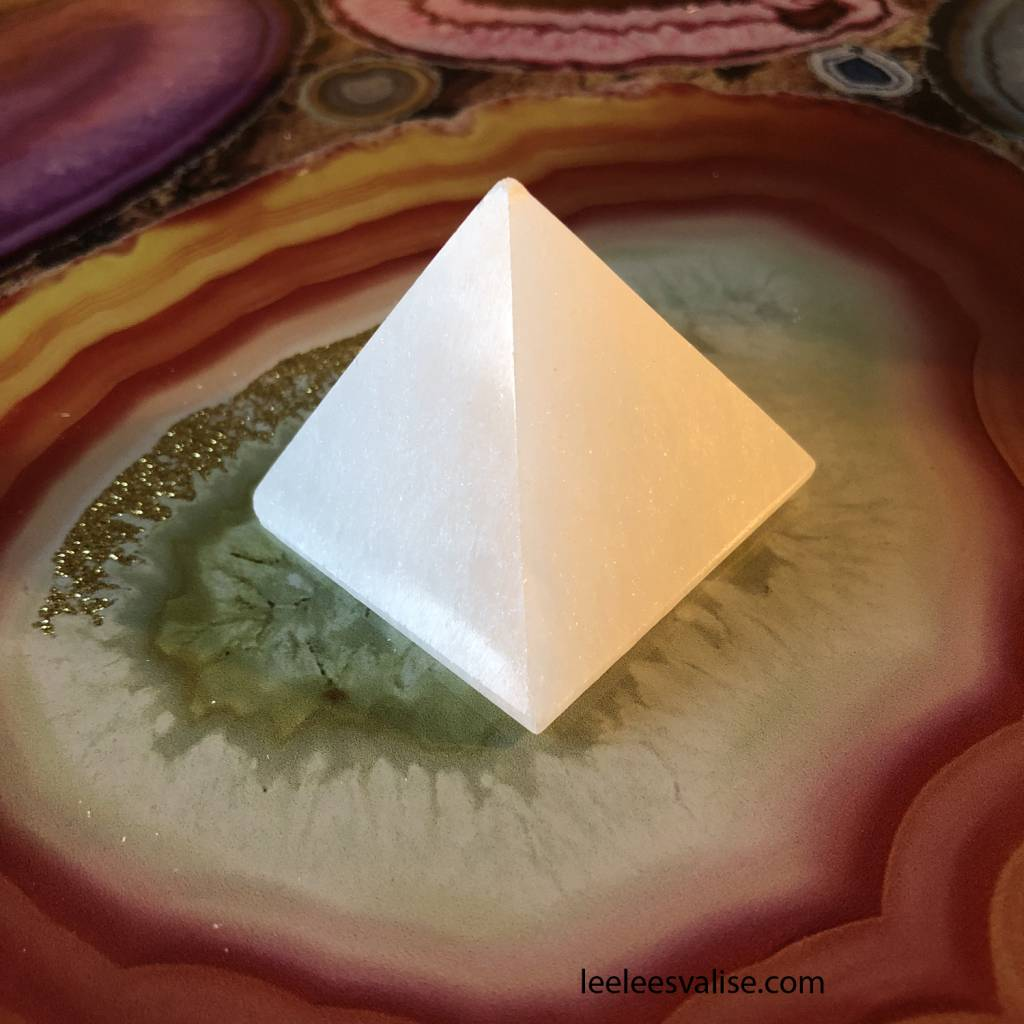 40mm Selenite Pyramid
