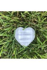 Polished Selenite Heart