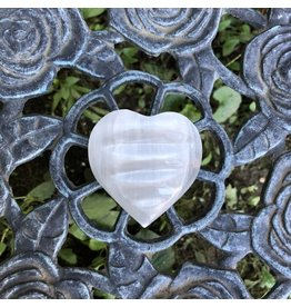 Polished Selenite Heart