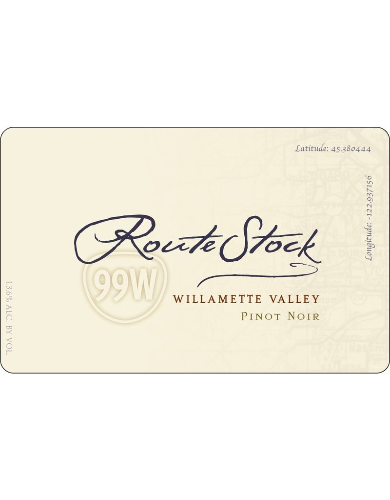 "Wine Pinot Noir ""Route 99W"", Routestock, Willamette Valley, OR, 2014"