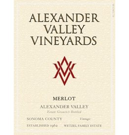 "Wine Merlot ""Estate"", Alexander Valley Vineyards, CA, 2015"