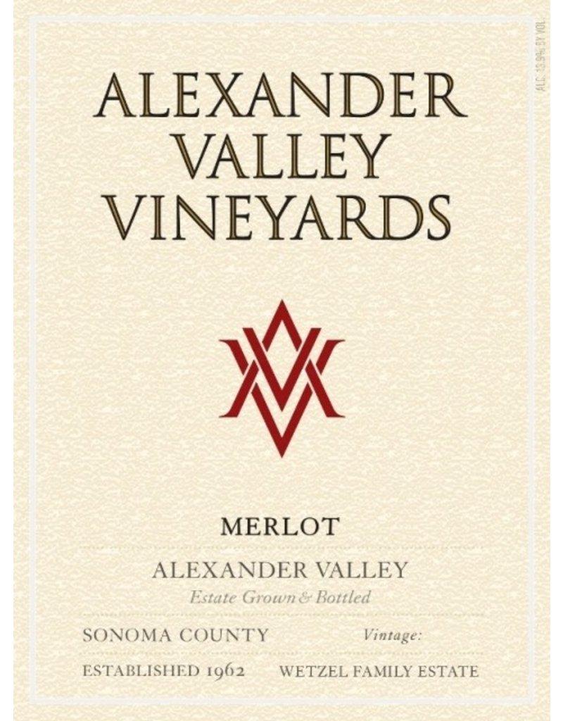 "Merlot ""Estate"", Alexander Valley Vineyards, CA, 2015"