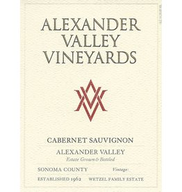Cabernet Sauvignon, Alexander Valley Vineyards, CA, 2015