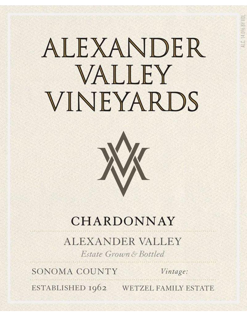 Wine Chardonnay, Alexander Valley Vineyards, Alexander Valley, CA, 2014 (375ml)
