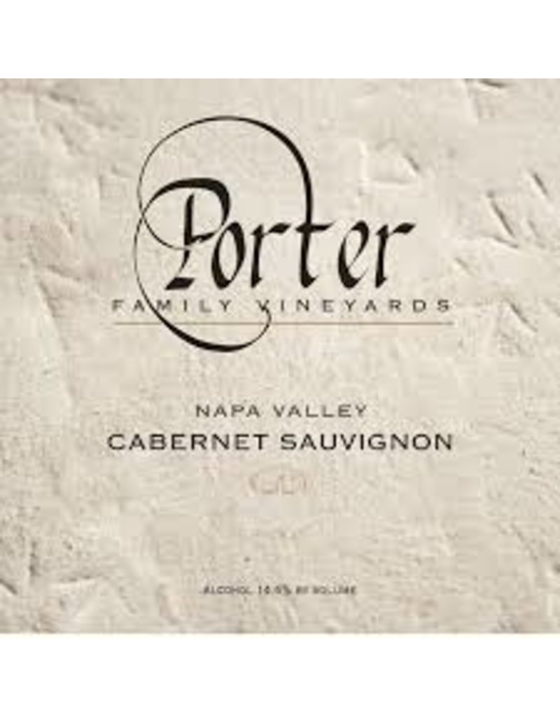 Wine Cabernet Sauvignon, Porter Family Vineyards, CA, 2013