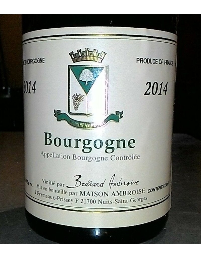 Wine Bourgogne Blanc, Bertrand Ambroise, FR,  2014