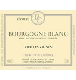 """Wine Bourgogne Blanc """"Vieilles Vignes"""", Christophe Cordier, FR, 2013"""