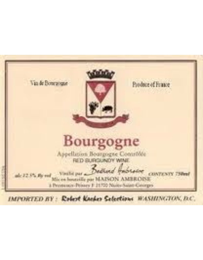 Wine Bourgogne Rouge, Bertrand Ambroise, FR, 2014