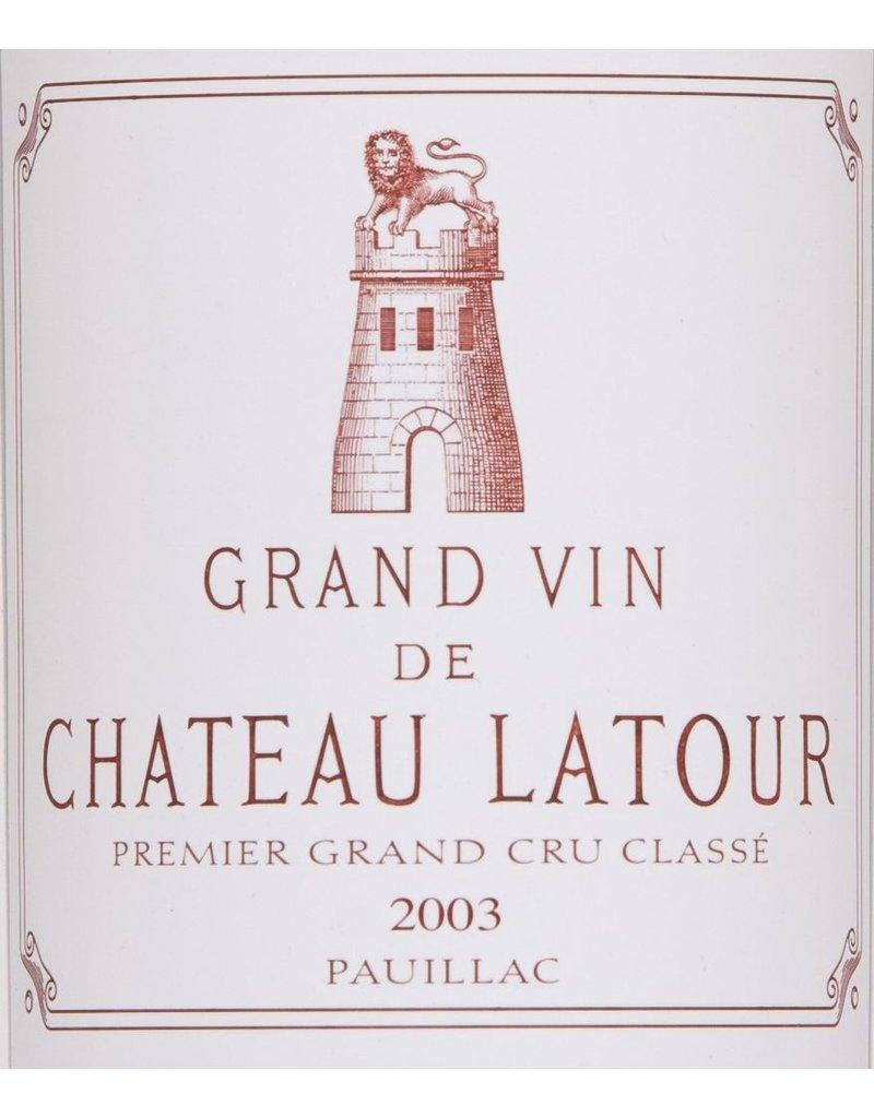 Wine Chateau Latour, Pauillac, FR, 2003