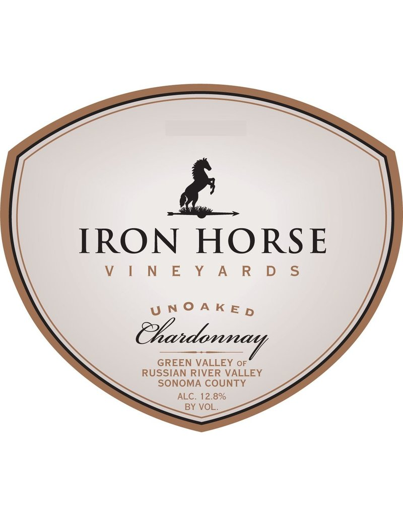 """Wine Chardonnay """"UnOaked"""", Iron Horse Vineyards, Russian River Valley, CA, 2014,"""