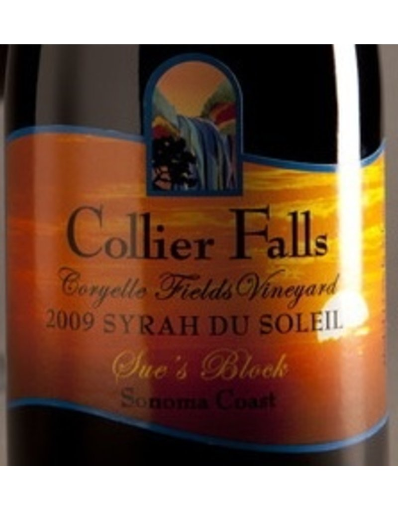 Wine Syrah du Soleil, Collier Falls Vineyards, Sonoma County, CA, 2009