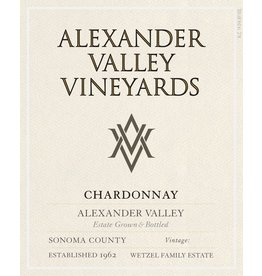 Wine Chardonnay, Alexander Valley Vineyards, CA, 2015