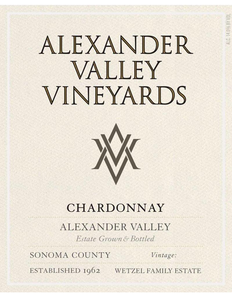 Wine Chardonnay, Alexander Valley Vineyards, CA, 2015