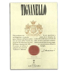 "Wine Red Blend ""Tignanello"", Marchesi Antinori, Tuscany, IT, 2014"