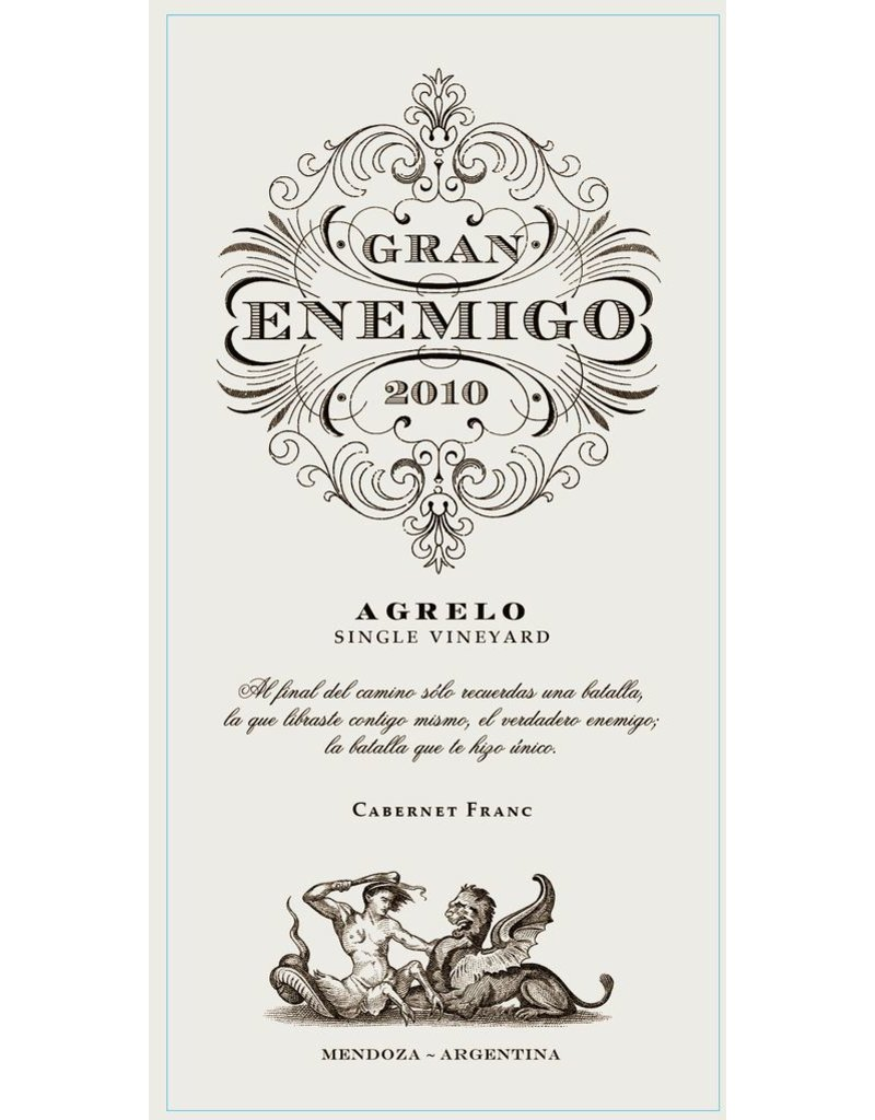 """Cabernet Franc """"Agrelo Single Vineyard"""" Gran Enemigo, Mendoza, AR, 2010"""