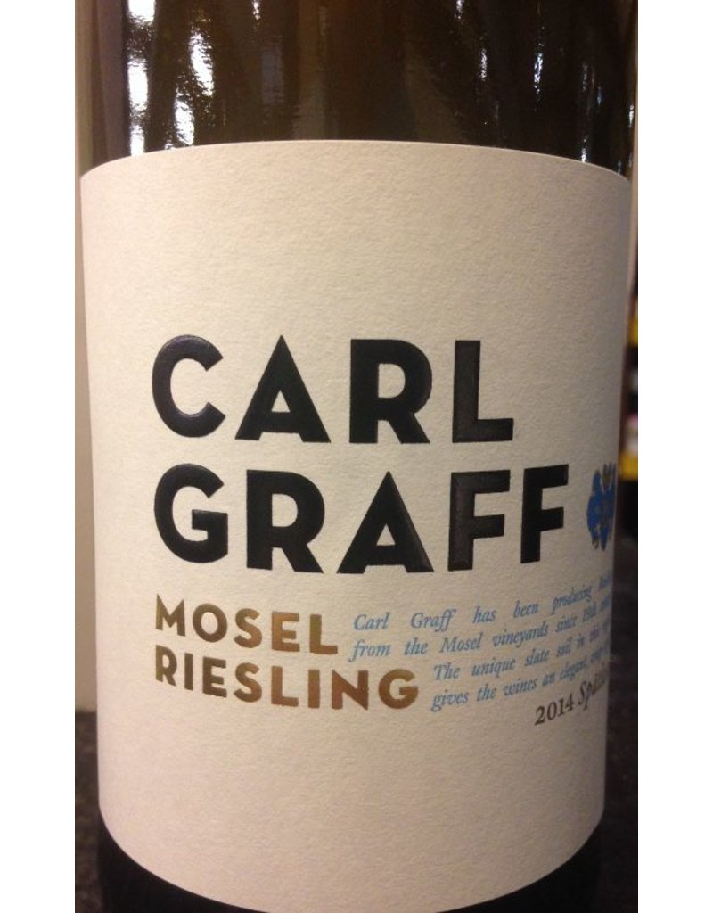 "Wine Riesling ""Spatlese"", Carl Graff, Mosel, DE, 2015"