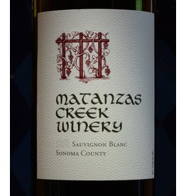 Wine Sauvignon Blanc, Matanzas Creek Winery, Sonoma County, CA, 2015