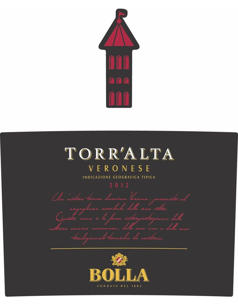 """Wine Red Blend """"Torr'Alta Veronese"""", Bolla, Rosso, IT, 2012"""