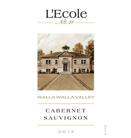 Wine Cabernet Sauvignon, L'Ecole No 41, Walla Walla Valley, WA, 2013