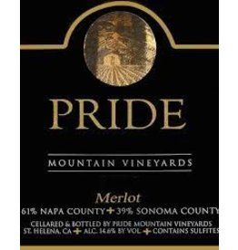 Wine Merlot, Pride Mountain Vineyards, CA, 2014