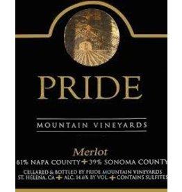 Wine Merlot, Pride Mountain Vineyards, CA, 2015