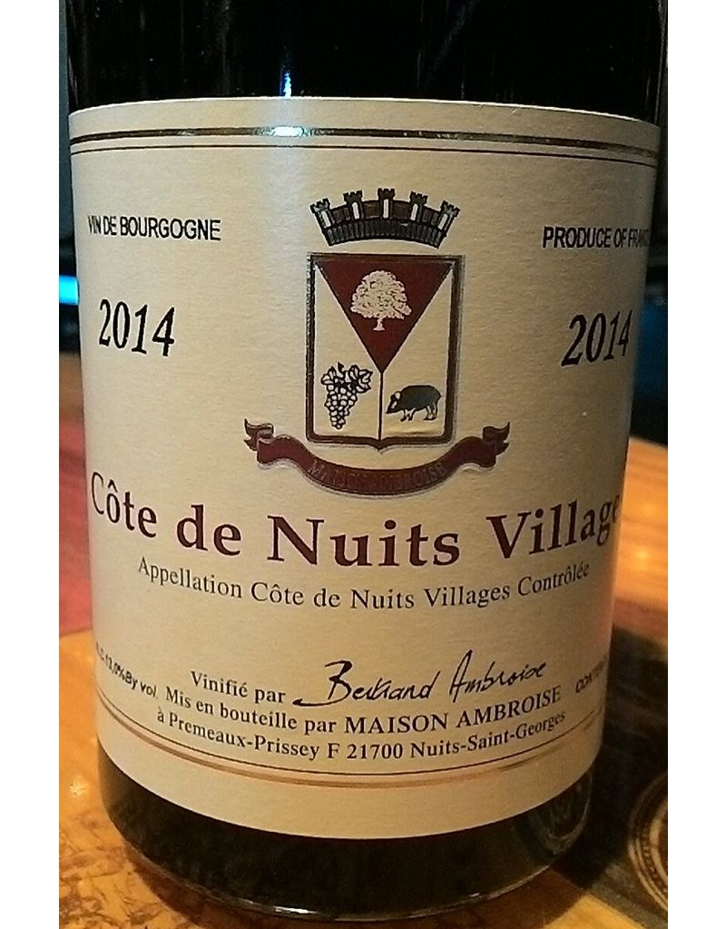 Wine Cote de Nuits Villages, Bertrand Ambroise, Cote de Nuits, FR, 2014