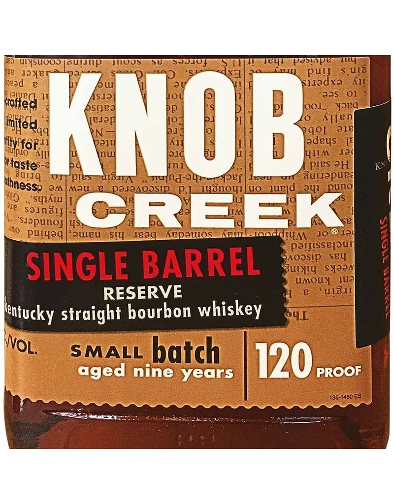 "Bourbon ""Single Barrel Reserve"", Knob Creek, 750ml"
