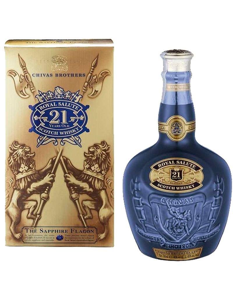 """Liquor Scotch, Chivas Regal """"Royal Salute"""" 21 Yr 750ml"""