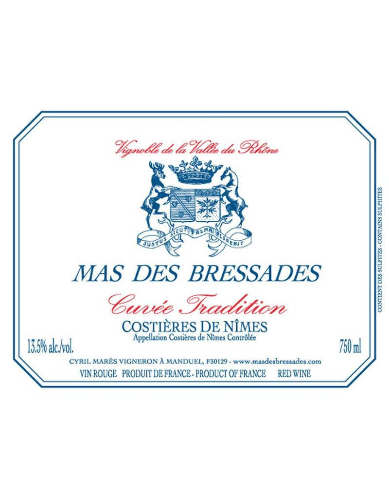 "Rhone Blend ""Cuvee Tradition"", Mas des Bressades, Costieres de Nimes, FR, 2015"