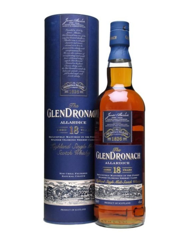 Liquor Scotch, Glendronach, 18 Yr, 750ml