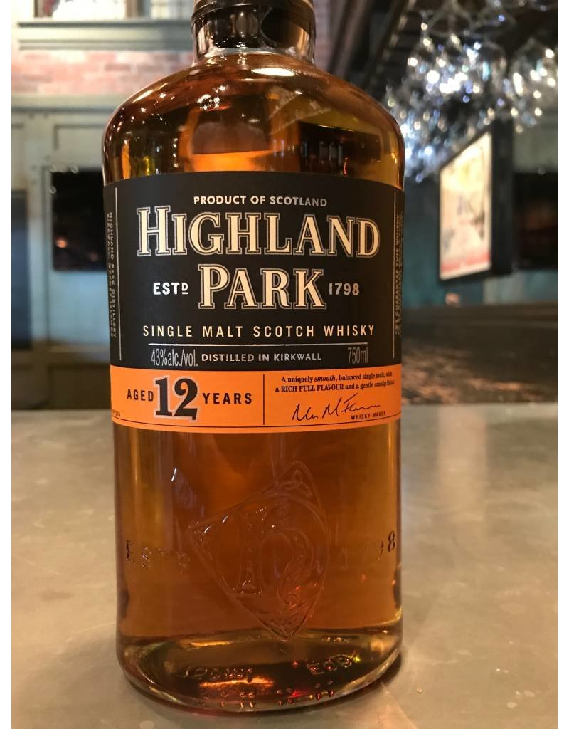 Liquor Scotch, Highland Park, 12 Yr, 750ml